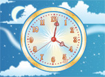 Sky Flight Clock screensaver - Time is a flight of hope and expectation!