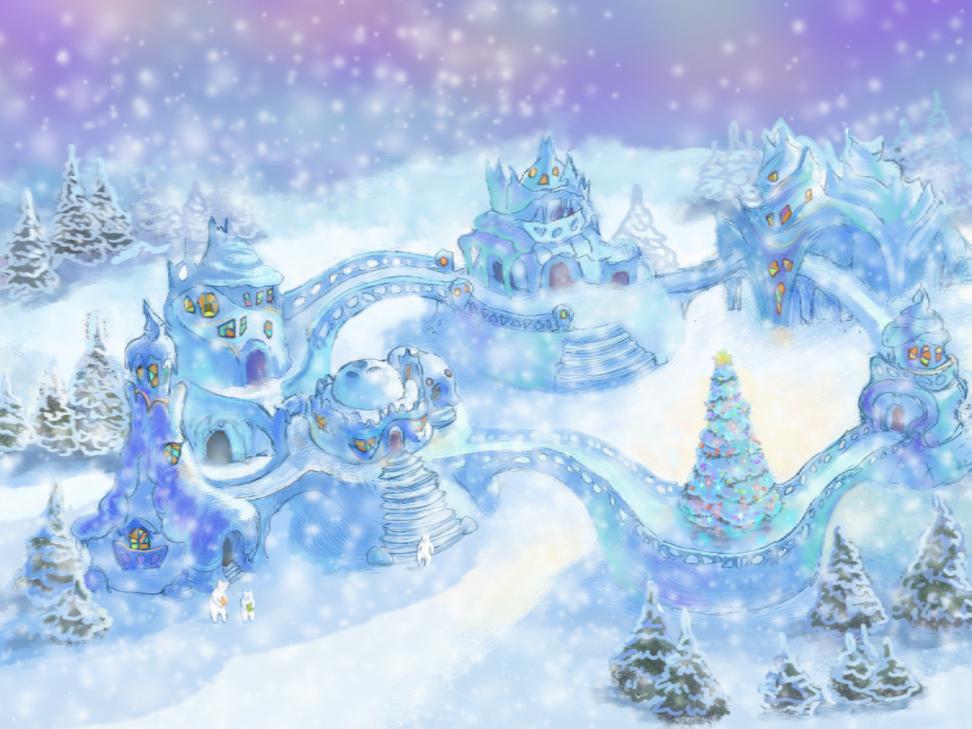 Village screensaver - Drop in at Santa Claus secret Snow village!