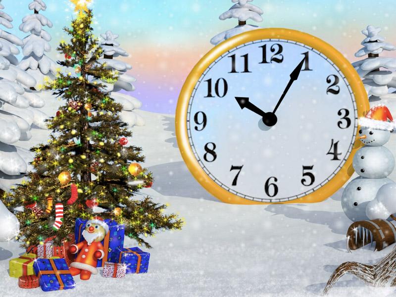 Sparkling Forest Clock ScreenSaver