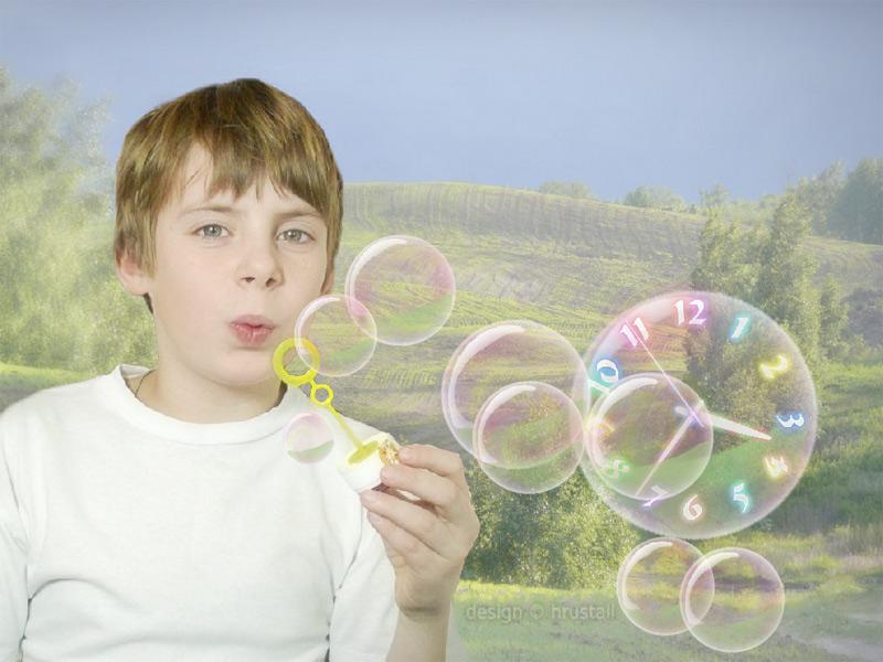 Follow the easy go of joyful sunny bubbles!