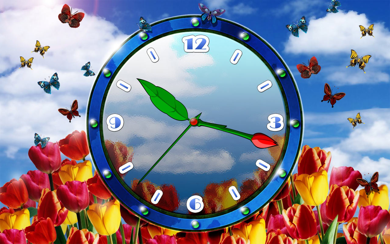 Screensaver Download Tulip Clock Screensaver System