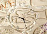 For many centuries man has wanted to leave some record of himself, of his time, art and emotions. The Wall Art Clock combines the ancient bird symbol of peace carved in white stone, a sacred stamped emotion, and a kids unclosed game!