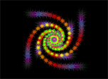 Download free Starry Whirligig screen saver by 7art-screensavers
