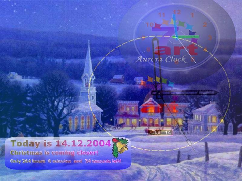 Visit homepage of 7art Xmas Clock ScreenSaver